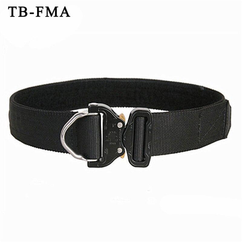 TB-FMA militaire d-ring Riggers ceinture 1.75 pouces Cobrabuckle Shooter Paintball Airsoft Wargame ceinture noir EDC ceinture taille soutien
