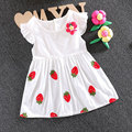 2017 лето девушка новорожденный детская одежда марка хлопок цветок dress для детского девушка детская одежда партия платья принцесс dress