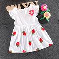 2017 summer bebé recién nacido ropa de bebé marca cotton flower dress para la muchacha infantil del bebé ropa de fiesta vestidos de princesa dress
