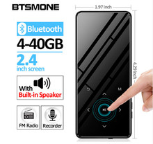 Bluetooth 4.2 touch screen MP3 player Built-in 16G HIFI Lossess Portable Slim MP3 player with radio and loud Speaker For walking цена и фото