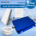 Sanqino Nueva 3G Amplificador de Señal 2100 MHz Boost Mobile Phone 3G UMTS 2100 MHz Amplificador Repetidor W-CDMA 2100 MHz Móviles Repetidores