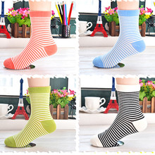 0 to 11 years Qiu dong season stripes in the tube baby socks Cotton lovely children's socks