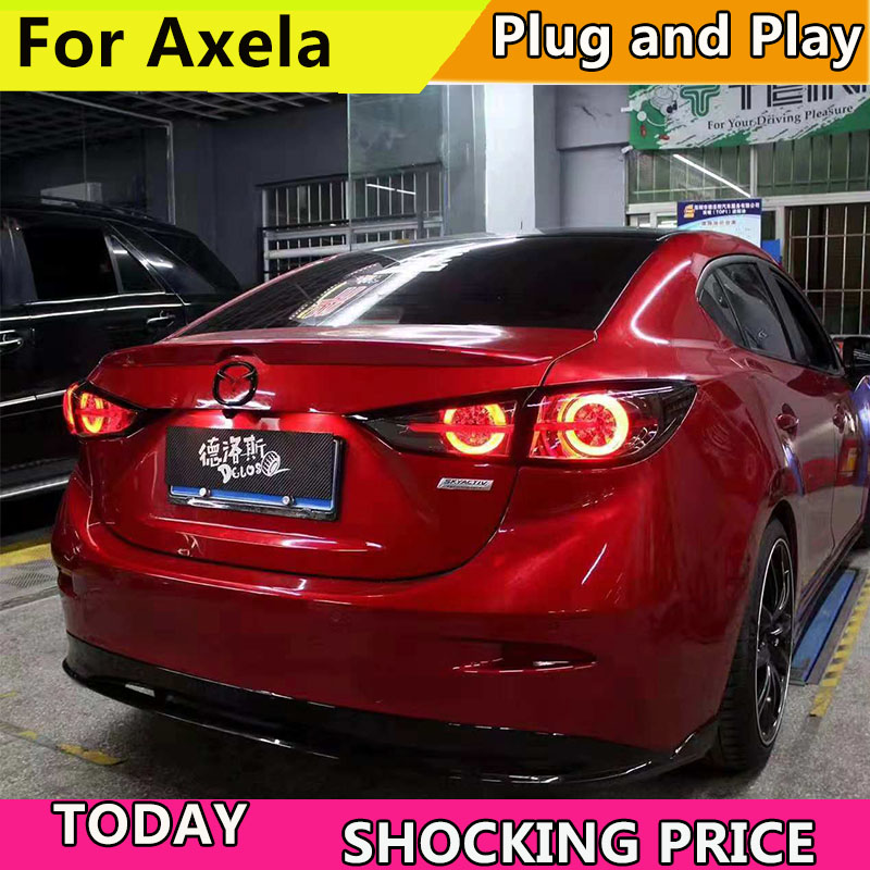 Car Style Tail lamp For Mazda 3 Tail Lights 2014 2018 New Mazda3 Axela LED Taillight LED Rear Lamp DRL+Brake+dynamic turn signal
