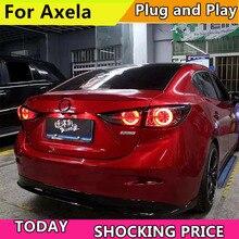 Xe Ô Tô Phong Cách Đuôi Đèn Cho Xe Mazda 3 Đuôi Đèn 2014 2018 Mới Mazda3 AXELA Đèn LED Âm Trần Dạng Tấm Mỏng Đèn LED Phía Sau Đèn đèn Led DRL Chữ + Phanh + Năng Động Nhan