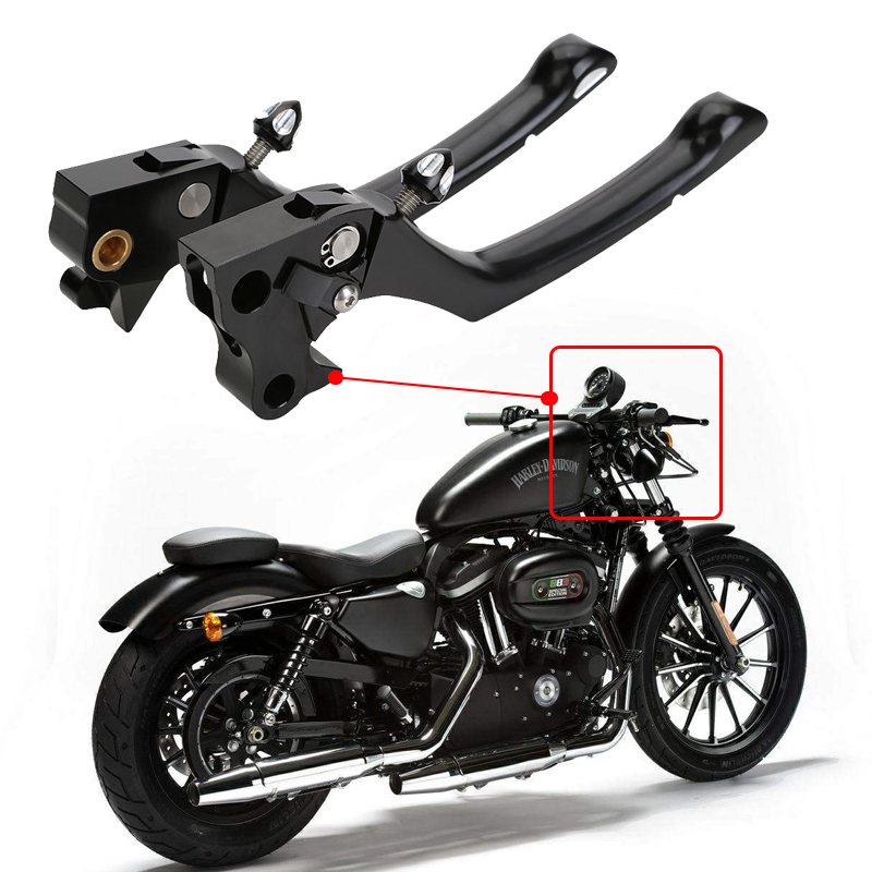 Motorcycle Accessories Adjustable Folding Black CNC Clutch Brake Lever For Harley Davidson SPORTSTER XL 883 1200 2004 - 2013 aftermarket free shipping motorcycle parts brake clutch lever fit for harley davidson davidson xl sportster 883 1200 softail cd