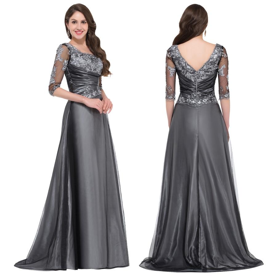 Grey Plus Size Dresses Evening Gowns