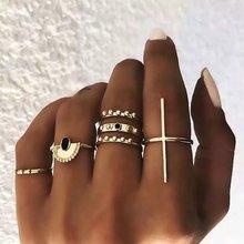 Punk Women Rings For Anillos Mujer Bague Femme Boho Ring Set Jewellery Bohemian Accesorios Bijoux Vintage Sieraden