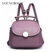 Youngboom бренд Для женщин рюкзак женская мода PU кожаная сумка Многофункциональный рюкзак для Обувь для девочек европейский и американский Стиль