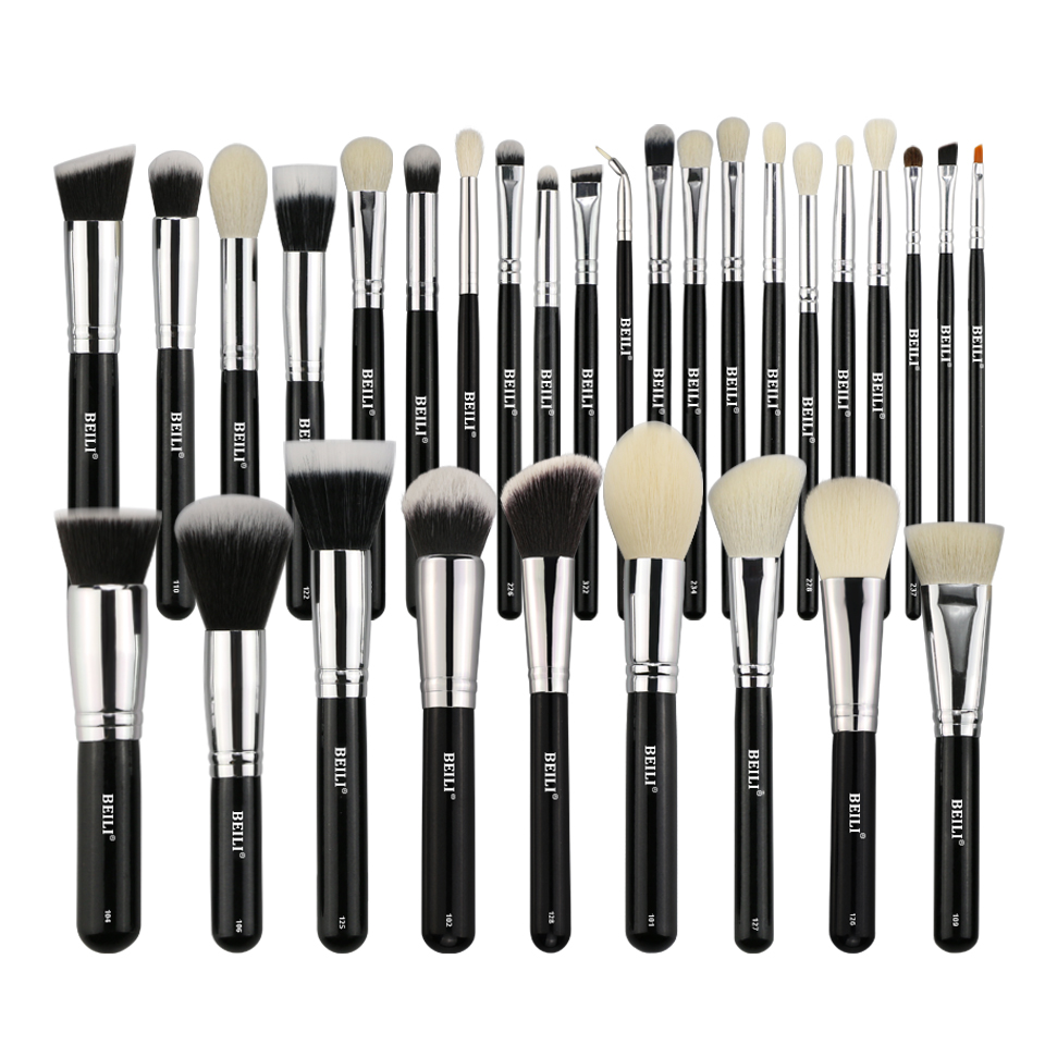 BEILI Complete Professional 30 pieces Foundation Powder Concealer Eyes shadow Makeup Bru ...