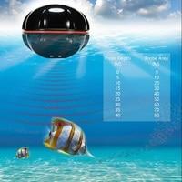 LumiParty Portable Fish Finder Wireless Sonar Sensor Advance Remote Rechargeable Sonar Sensor Black Fish Finder Not