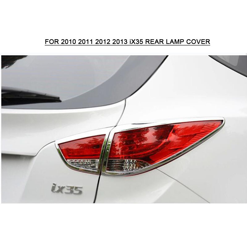 4 pièces chrome feu arrière bande feu arrière couvercle garniture chromage pour Hyundai ix35 2010 2011 2012 2013