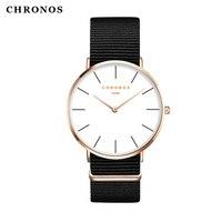 Relogio Esporte Masculino CHRONOS Watches Women Men Wrist Watch Fashion Nylon Strap High Quality Quartz Male