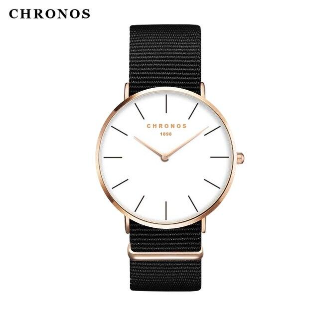 Bien-aimé Chronos marque casual montres femmes hommes montre bracelet de  DD92