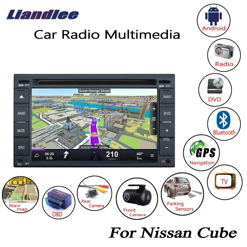Liandlee pour Nissan Cube 2009 ~ 2014 Android autoradio lecteur CD DVD GPS Navi Navigation cartes caméra OBD TV HD écran média