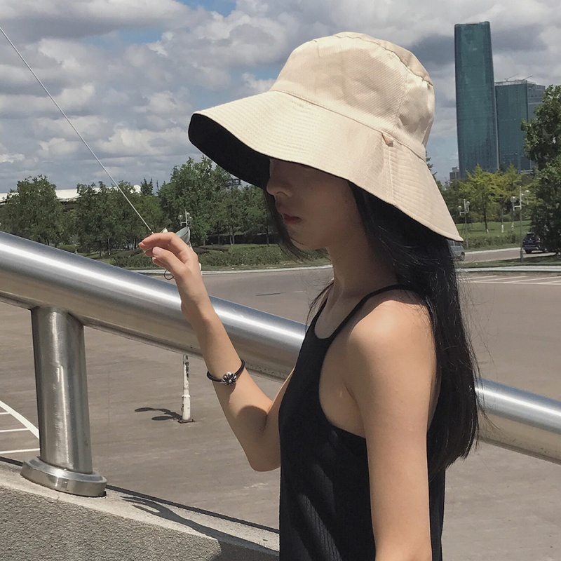 2018 Hot Selling Pure color Bucket Hats Men Women Outer Summer Street Hip Hop cap Dancer Cotton Panama City Hat