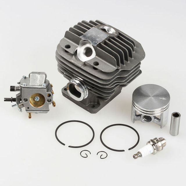 US $42 95 |Cylinder Piston Kit +Carburetor Carb +Spark plug for Stihl 044  MS440 MS 440 Chainsaw Parts * 1128 020 1201-in Chainsaws from Tools on