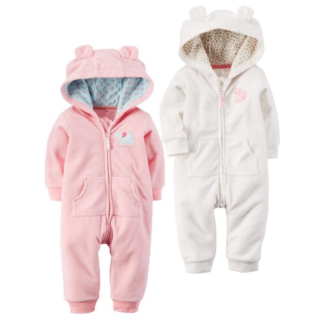 9f5a9948650a Autumn   Winter Newborn Infant Baby Clothes Fleece Jumpsuit Boys ...