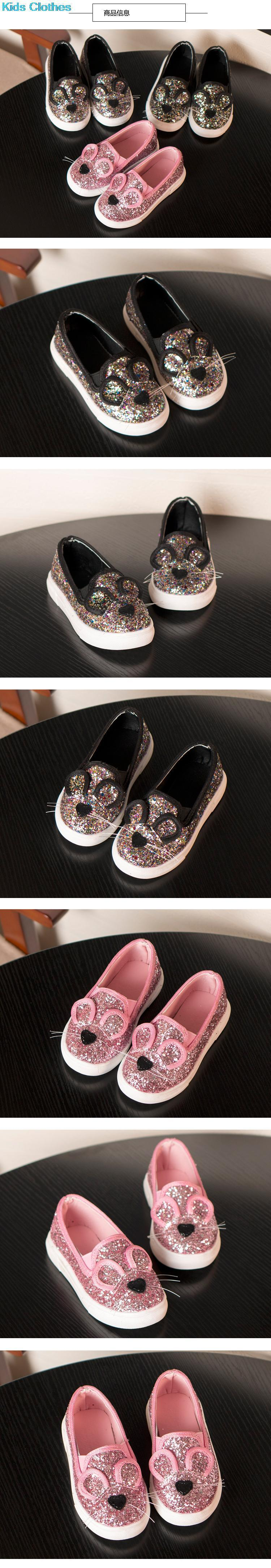 Casual Sequins baby Girl Shoes Cartoon Mouse Children's Shoes Spring Summer Brand Children Boy Brand Glitter Fashion Sneaker 4