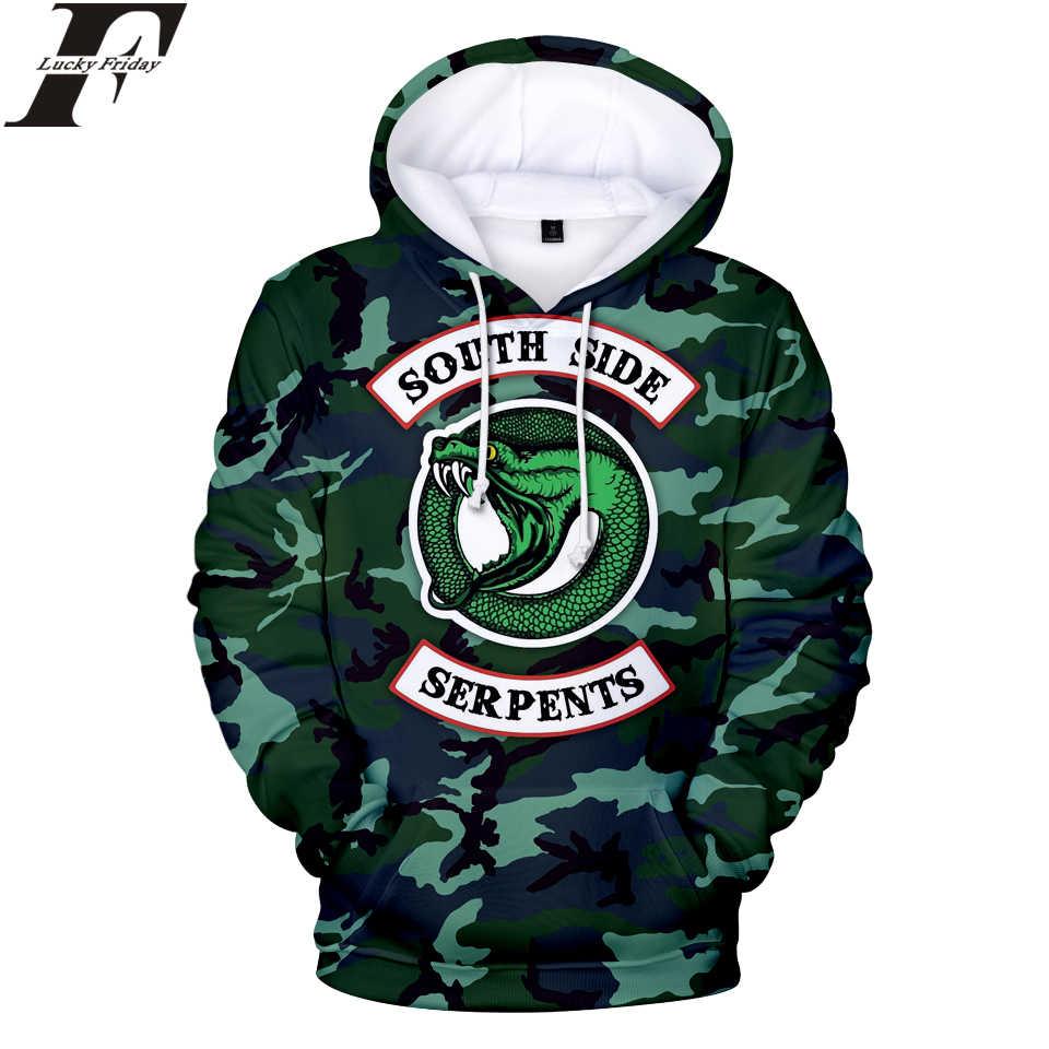 Hip Hop RIVERDALE Hoodies 3D Print Women/Men Sweatshirts South Side Snake Hoodies Men/Women Casual Clothes Plus Size