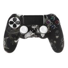 Gamepad Controller Silikon Hülse Schutz Schutzhülle + 2 Grip Caps Für PS4