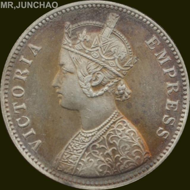 Britischen Indien Münze 1897 90 Silber Königin Victoria One Rupie