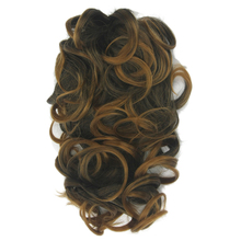 Soowee Black To Brown False Hair Claw Ponytail Synthetic Hair Pony Tail Fairy Tail Hair on Clips Hairpieces for Hair Extension