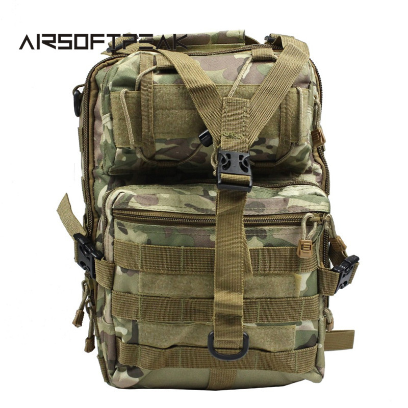 Tactical Molle Crossbody Bag Single Shoulder Hunting Bags Outdoor Camo Messager Chest Pack Waterproof Nylon Hiking Backpack ^ 1000d nylon molle tactical hunting bags outdoor sport single shoulder bag men outdoor sport camping hiking hunting waist bags