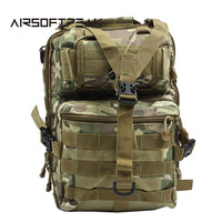 Tactical Molle Crossbody Bag Single Shoulder Hunting Bags Outdoor Camo Messager Chest Pack Waterproof Nylon Hiking