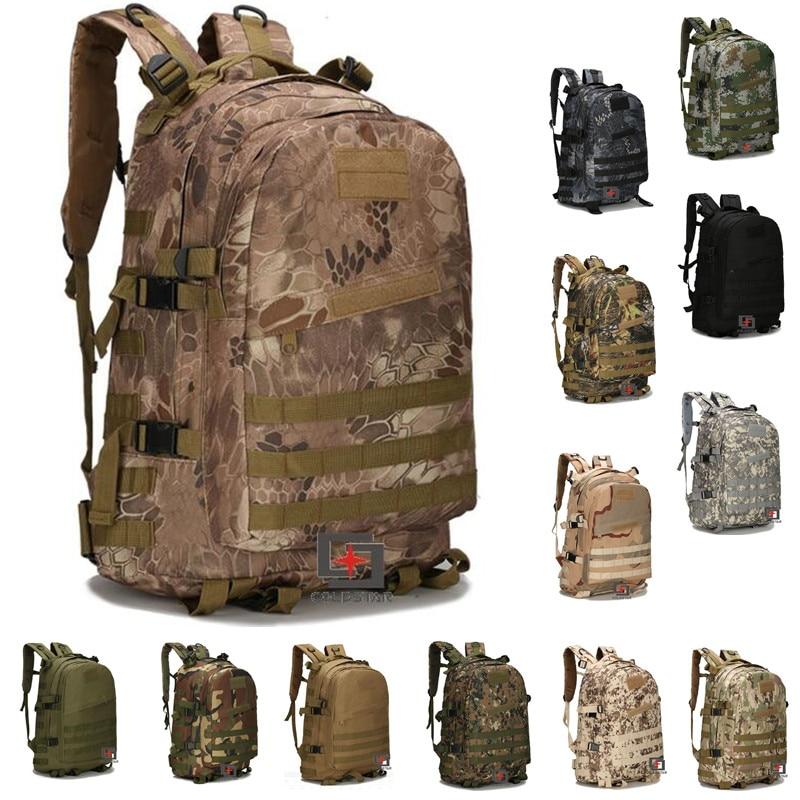 13COLORS 3D 55L Outdoor Military Tactical Backpack Rucksack Hiking Camping Bags High Capacity Travel Shoulder Bag