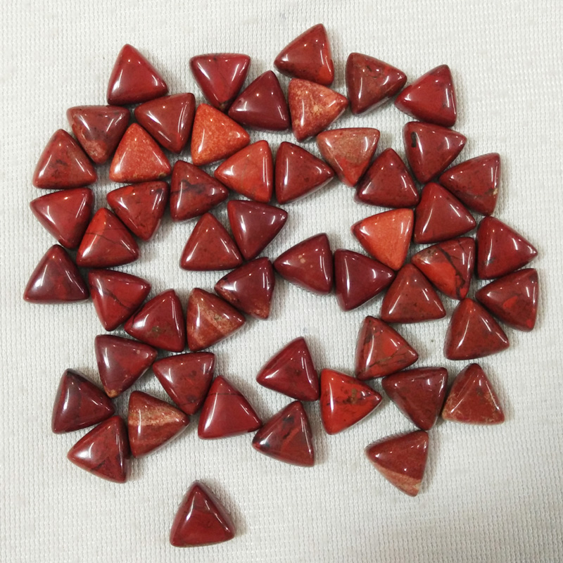 wholesale 50pcs/lot fashion high quality natural rainbow stone triangle cab cabochon beads 10x10x10mm for jewelry making free