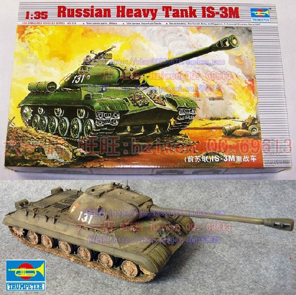 1 35 Soviet Union Stalin IS 3M Heavy Tank Assembled Model WWII Chariots DIY Plastic Toy