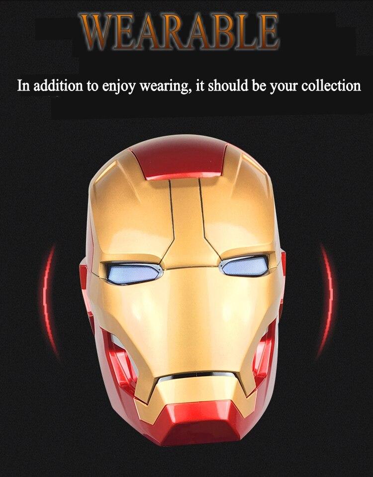 Avengers 4 1:1 Halloween Party zeer hoge kwaliteit Iron man masker mk42 helm wearable model touch elektrische open masker marvel - 4