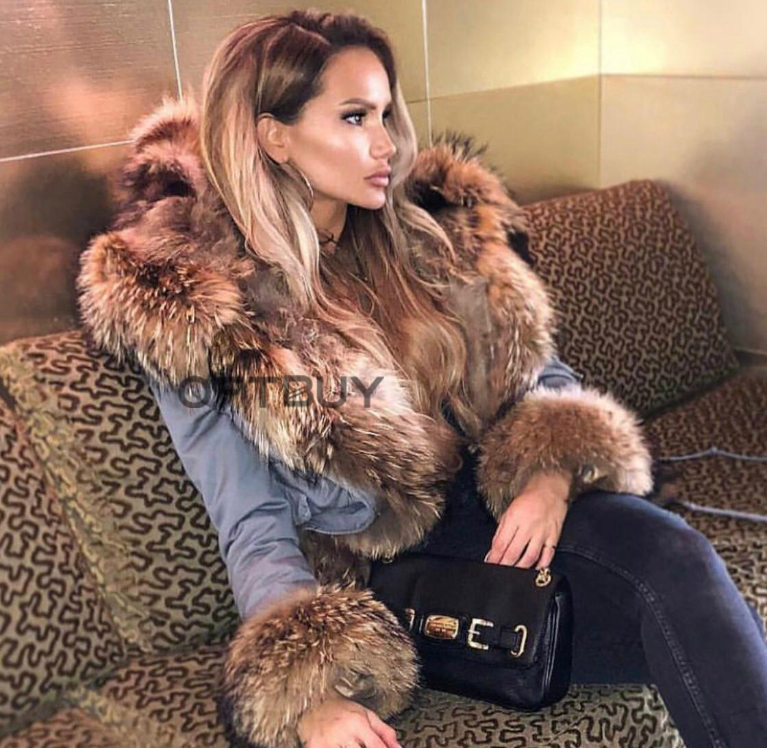 OFTBUY 2019 Winter Jacket Women Long Parka Real Fox Fur Coat Natural Raccoon Fur Collar Hood Thick Warm Streetwear Parkas New 17