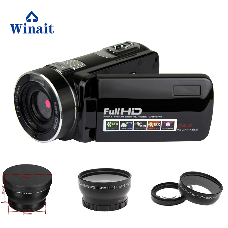 2017 Newest 24MP 1080P Night Vision Digital Video Camera HD Denifition Camcorder With 16X Digital Zoom 3''Inch Screen