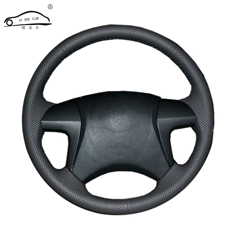Artificial Leather car steering wheel braid for Toyota Highlander Toyota Camry 2007-2011/Custom made Steering cover