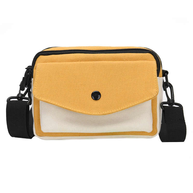 Shoulder Messenger Bags for Women Female Ladies Cool Canvas Small Handbag Purse for Men Fashion Male Sling Crossbody Bag