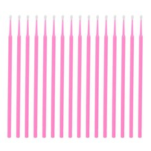 цены 100 Pcs Disposable Micro Brushes Cotton Swab Applicators Tube for Eyelash Extension Glue Removal Lashes Graft Tools