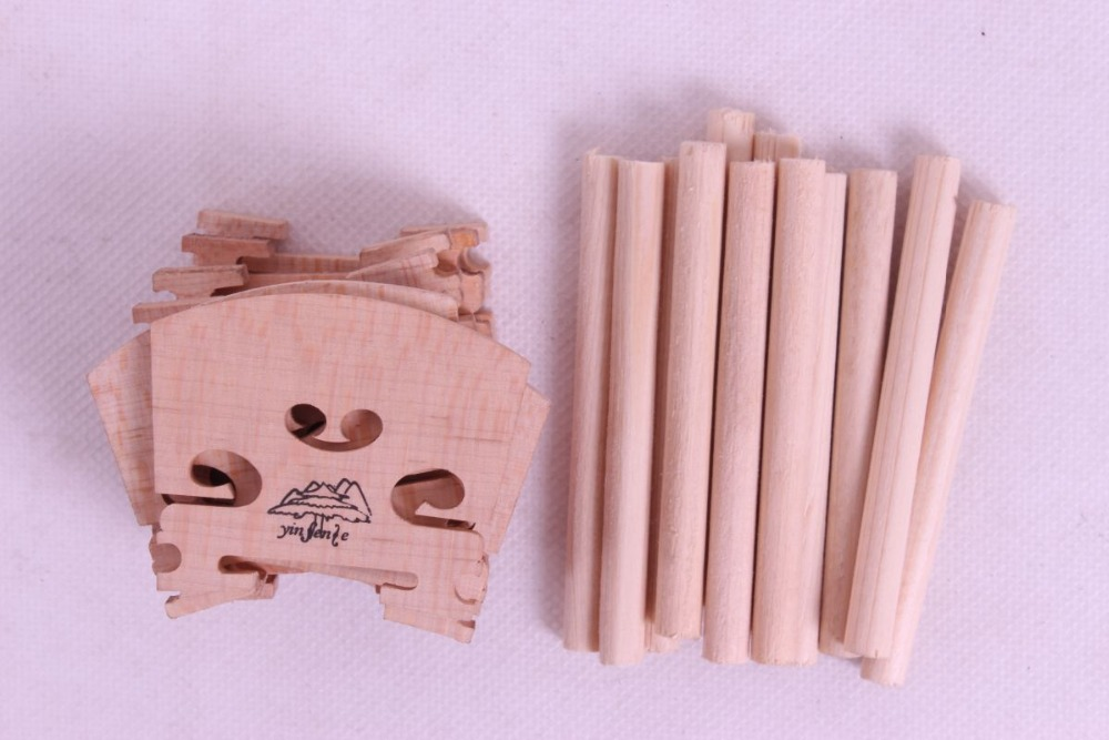 Yinfente 20pcs Violin Sound Post +Violin Bridge 4/4, High Quality Spruce Wood, Violin Parts Accessories