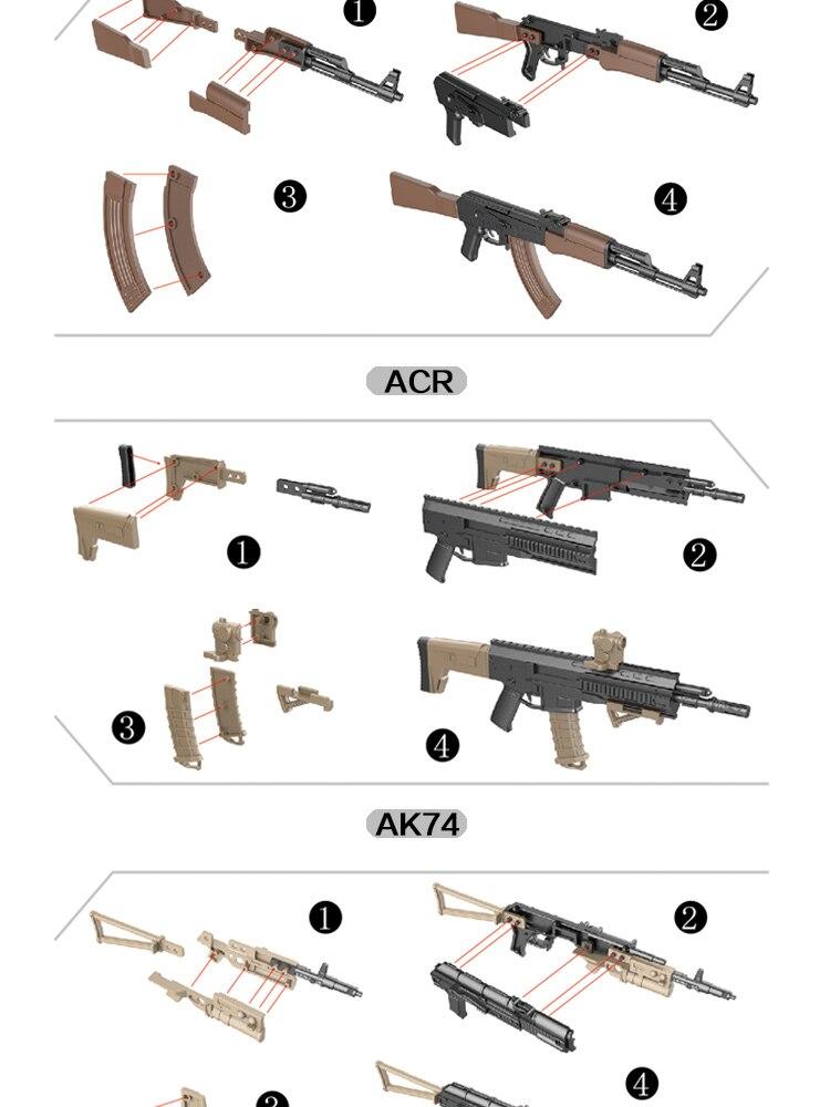 Armas de Simulação Militar Modelo de Montagem