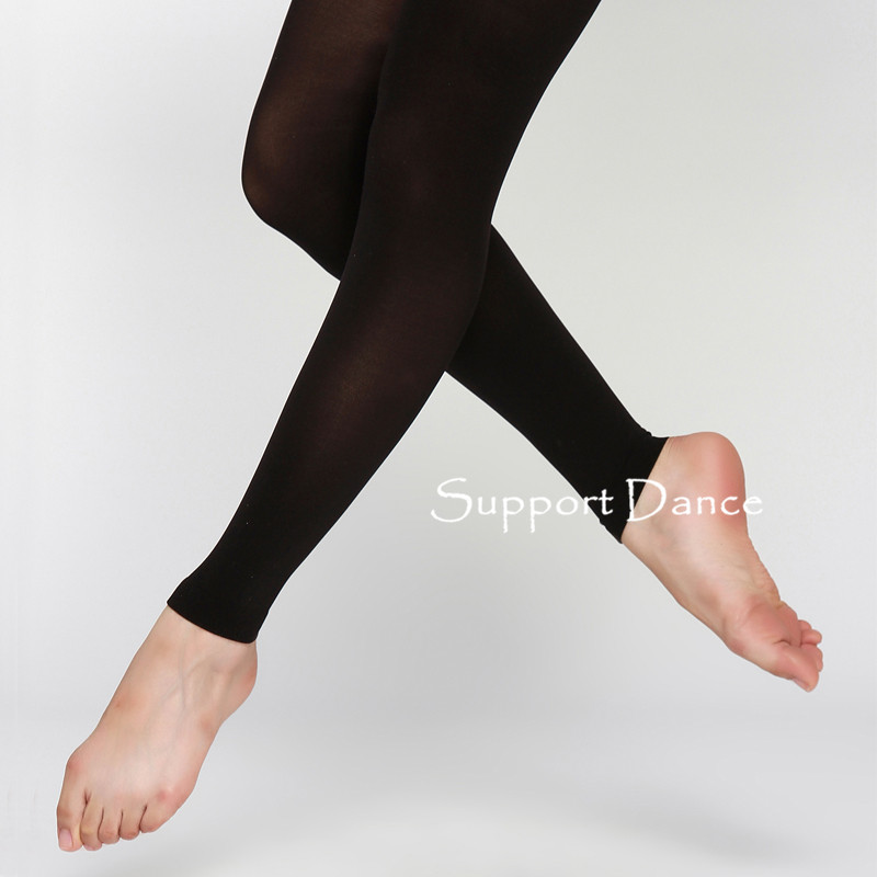 Children Adult Ballet Footless Tights With Waistband And Cotton Gusset Girls Women Soft Elastic Collant DBT18