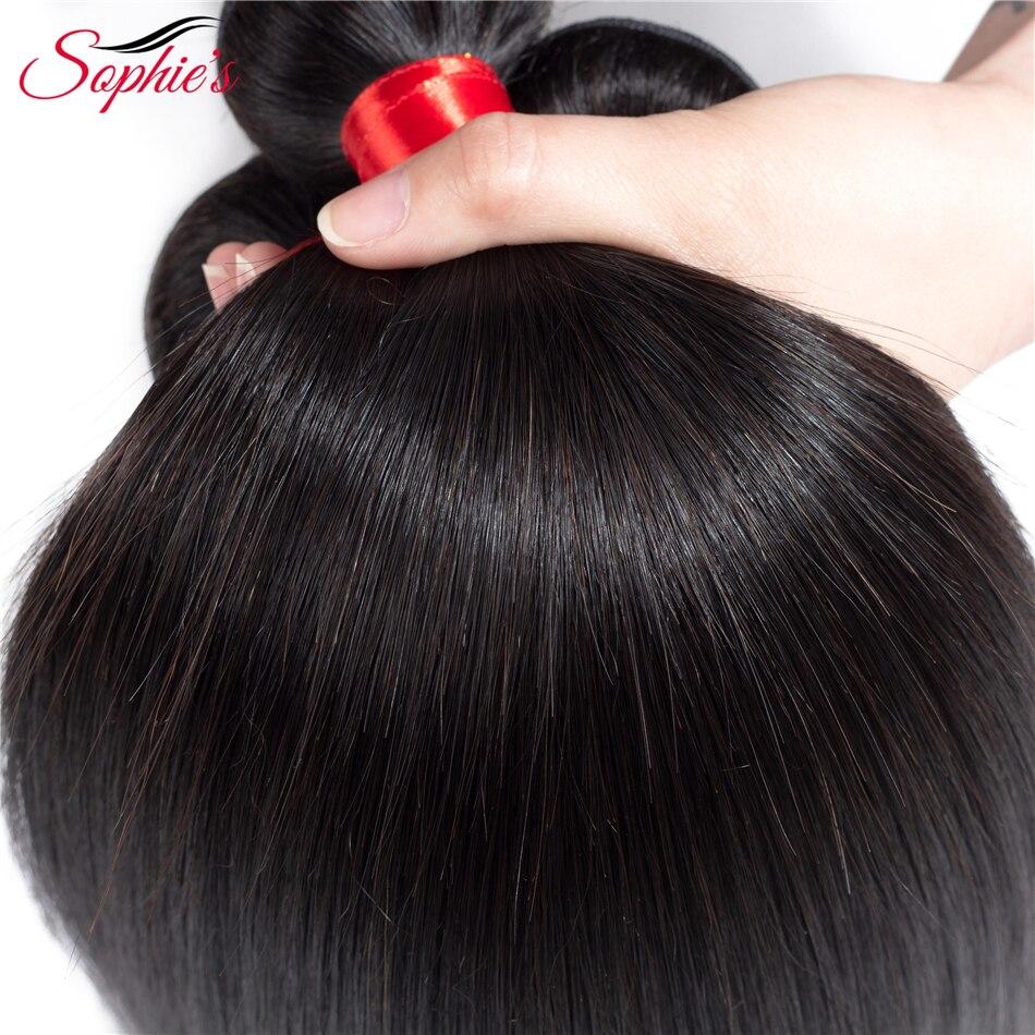 Rambut Brazilian Lurus Brazilian Rambut Manusia 3 Bundel Dengan 360 - Pasokan kecantikan - Foto 3
