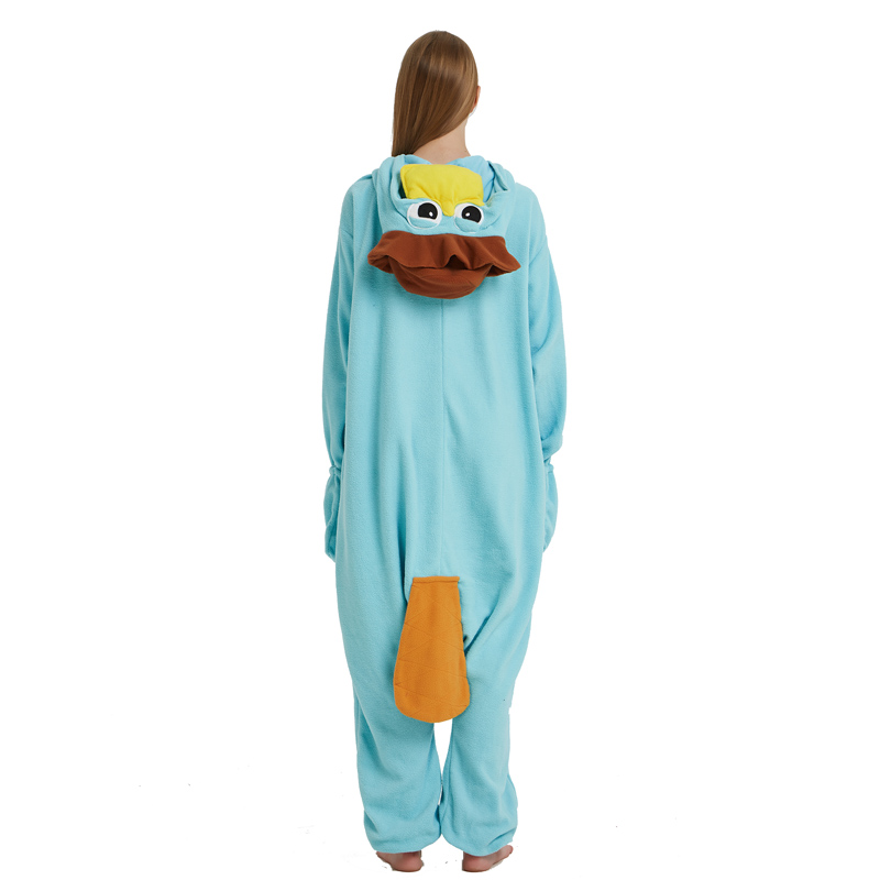Unisex Perry the Platypus Costumes Onesies Monster Cosplay Pajamas Adult Pyjamas Animal Sleepwear Jumpsuit (3)