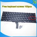 """Brand New Small Enter RS Russian keyboard+100pcs keyboard screws For MacBook Air 11.6"""" A1370 A1465 2010-2015 Years"""