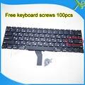 """Nova marca Pequeno Digite RS teclado Russo + 100 pcs parafusos do teclado Para MacBook Air 11.6 """"A1370 A1465 2010-2015 Anos"""