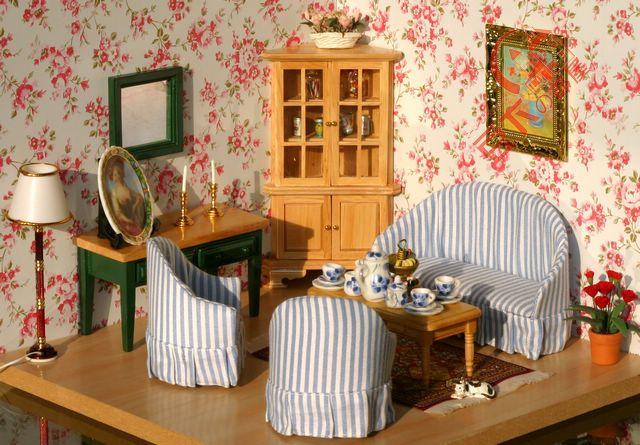 cool 12 scale dollhouse living room set | Lot 7pcs 1 Inch Scale Dollhouse Miniature Vintage Living ...