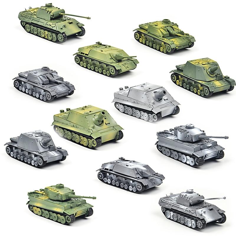 1/72 4D Assemble Soldiers Tiger Panzerkampfwagen Panther Tank Assault Models Building Toys Diecast War-II