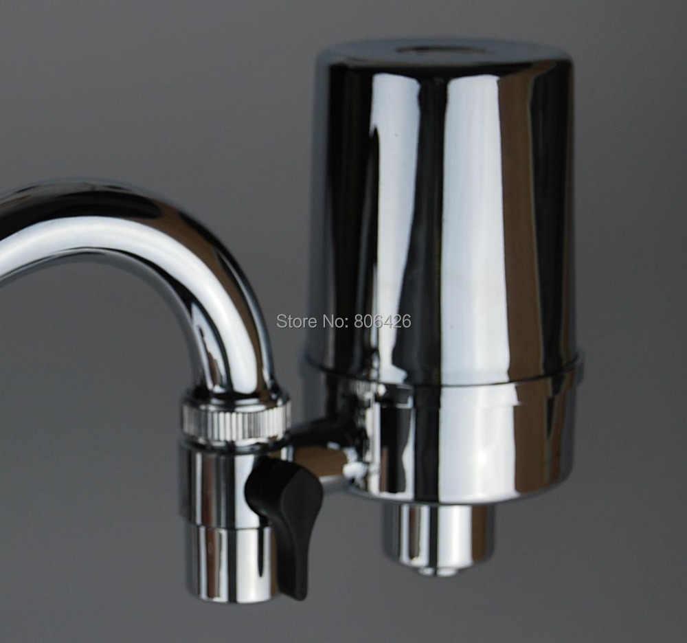 Бесплатная доставка очиститель воды/кран фильтр с серебряной переноски фильтр с активированным углем для wippe от химических веществ и улучшить вкус