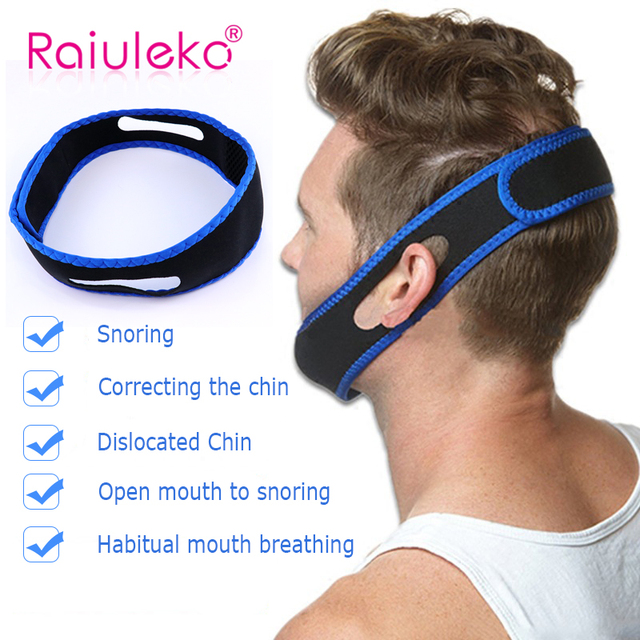 CPAP Anti Snoring snore chin strap Snoring Remedy Relieve Sleep Apnea Care Health Tools Stretchable Strap Stop Snoring Aid Belt 2