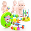 2016 1PC Children Kids Baby Colorful Wooden Mini Around Beads Educational Toy G0008-A