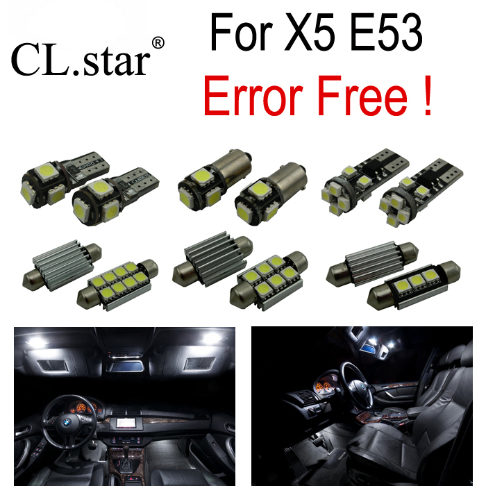 ФОТО 22pc X canbus Error Free LED Reading Bulb Interior Dome Light Kit for BMW X5 E53 3.0i 4.4i 4.6is 4.8is (2000-2006)